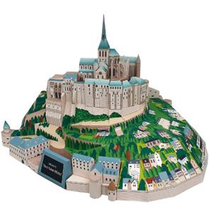 Mont Saint Michel Paper Diorama