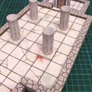Pillars in a 2.5D Printable Dungeon Room