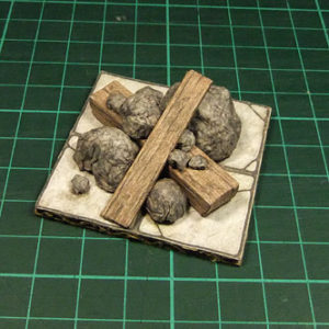 Rubble On A 2.5D Printable Dungeon Floor